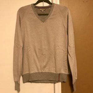 Burberry 100% cotton v neck sweater